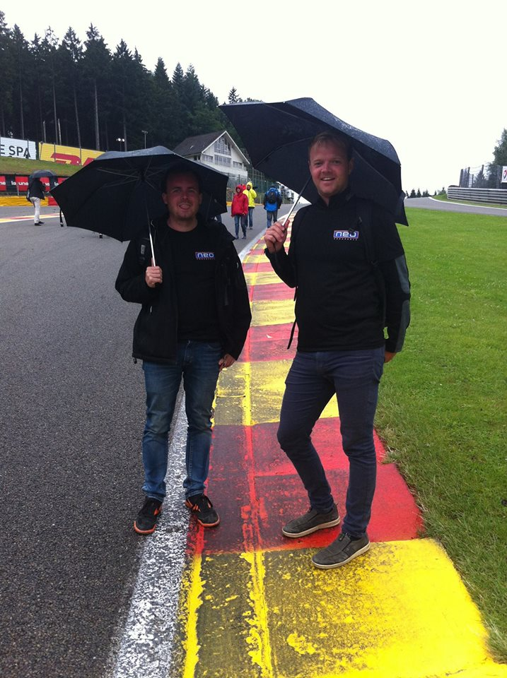 After the race we could walk up Eau Rouge.