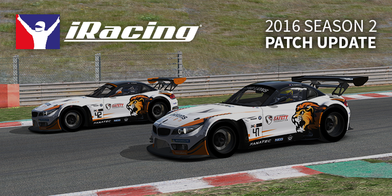 iRacing 2016 season 2 patch 2
