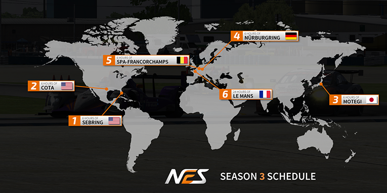 NEO Endurance Series season 3 schedule revealed